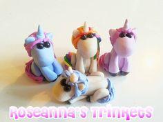 Custom Made Mini Unicorn Art Doll Sculpture by RoseannasTrinkets