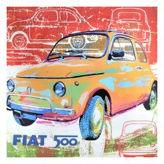 Fiat 500 Acrylic Poster 2 now featured on Fab.