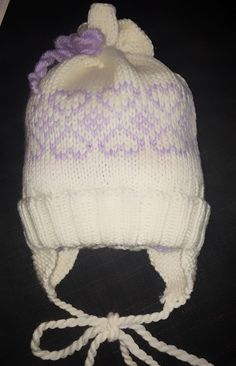 Baby Barn, Baby Knitting Patterns, Free Pattern, Diy And Crafts, Mittens, Winter Hats, Crochet Hats, Beanie, Purple Hearts