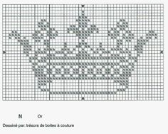 Gráfico coroa princesa para bordar em ponto cruz