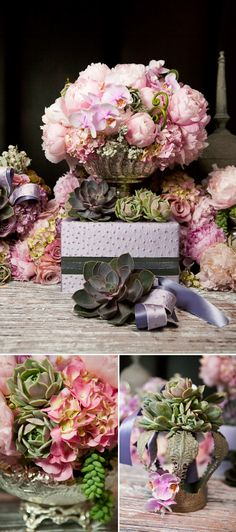 pink, lavender and silver Coco Chanel inspired wedding style