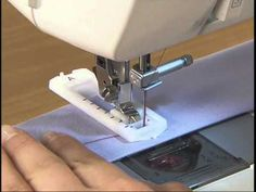 Clase de costura: Pie de prensatelas de ojales - YouTube