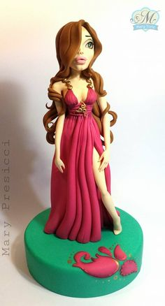 Mary Torte cake topper creation-Angelina Jolie cake topper ?