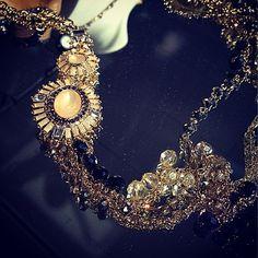 jeweled statement necklace #fall #13