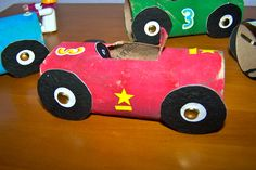 crafts with toilet paper rolls preschool | The cars won't last forever, but they were free to make using supplies ...