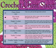How to Crochet - Useful Crochet Cheat Sheet for Beginners