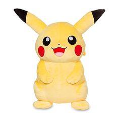 Image for Pikachu Poké Plush (Trainer Size) - 16 from Pokemon Center Pikachu, Pokemon Plush, Fans, Original Pokemon, Geek Fashion, Awesome Anime, Plushies, Ceramic Art, Size 16