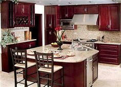 Burgundy Cabinets