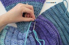 Crochet Mermaid Tail: Baby through Adult Sizes - Free Crochet Pattern Crochet Ruffle, Double Crochet, Free Crochet, Crochet Mermaid Tail Pattern, Vintage Mermaid, Mermaid Mermaid, Mermaid Tails, Crochet Baby Sweaters, Crochet Blankets