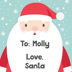 Santa Square Gift Stickers