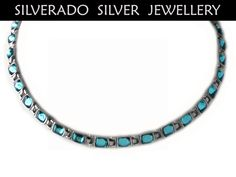 Sterling Silver 925 Necklace Turquoise by SilveradoJewellery, €87.00