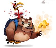 Day 785. Banjo Kazooie by Cryptid-Creations on DeviantArt