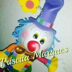 #palhaço #circo #eva3d #gomaeva #foami #priscilamarques