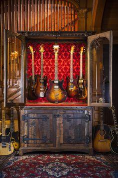 Guitar Display Cabinet - Joel Paul Design
