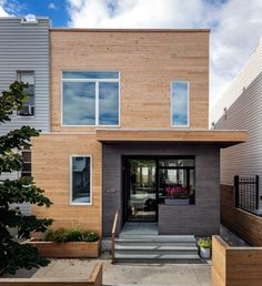 A Wood Frame Townhouse in Brooklyn Thats Only 20 Feet Wide by BFDO Architects