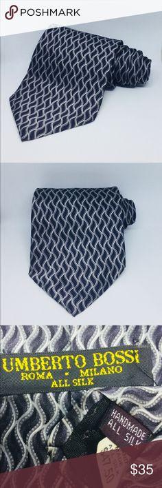 NWT Umberto Bossi Mens Tie 100% Silk NWT Umberto Bossi Mens Tie 100% Silk Accessories Ties