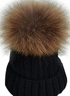 YANIBEST Womens Girls Winter Fur Hat Real Large Raccoon Fur Pom Pom Beanie Winter Hats Plush Heavy Duty Knit acrylic blend keeps you warm and looking good in the cold weather. Thick and high comfortably covers your head (Barcode EAN = 0726630177614). http://www.comparestoreprices.co.uk/december-2016-week-1/yanibest-womens-girls-winter-fur-hat-real-large-raccoon-fur-pom-pom-beanie-winter-hats.asp