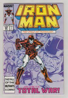 Iron Man Vol 1 225 Comic Book.  NM. December by RubbersuitStudios #ironman #armorwars #comicbooks