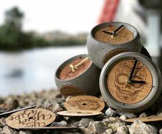 Beton clock #beton #concrete #sea #river #concretedesign #art #time #industrial #loft #skull  #calavera