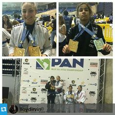 #Repost @bjjchick07 ・・・ #Repost @lloydirvin ・・・ (Pans Quadruple Gold?) congrats to Michelle @bjjchick07 and Vannessa @grifinn_ for closing out the blue belt open division today. Michelle won the coin toss for the place on the books but they both got double gold today! Aaaaaaaayyyyyyy congrats ladies #teamlloydirvin