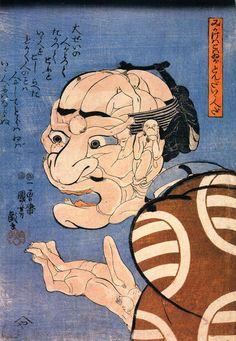 Utagawa Kuniyoshi was one of the last great masters of the Japanese ukiyo-e style of woodblock prints and He was a member of the Utagawa Japanese Drawings, Japanese Prints, Samurai, Art Asiatique, Kuniyoshi, Japanese Illustration, Dragons, Japanese Painting, Japan Art