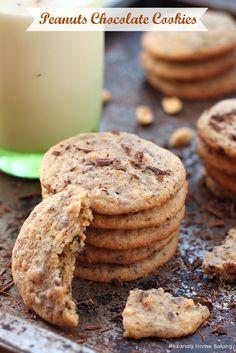 Peanut chocolate cookies recipe.