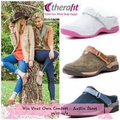 Style, Decor & More: Win a Pair of Austin Clogs in Our Therafit Shoe