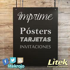 Ya imprimiste tus carteles, pósters, fotografías o publicidad? Los tabloides de papel eurokote son una buena elección al momento de hacer una impresión de ese tipo. Continuamos con la promoción de 7 más IVA, así que corre a aprovecharla ☺☺ #Litek #ExpertosEnImpresión #PiensaRojo
