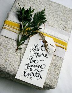 Gorgeous Gift Wrap Ideas .//. The Life .//. Free calligraphy gift tag printable!