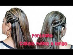 Penteado para cabelos médios e longos