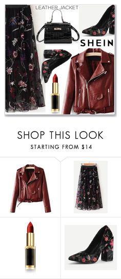 """""""Leather Jacket"""" by almamehmedovic-79 ❤ liked on Polyvore featuring L'Oréal Paris"""