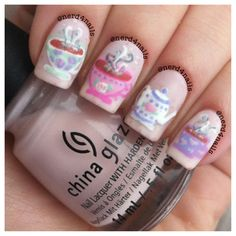 the cutest nails i've ever seen. #teapotobsession