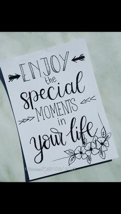 disfruta de los momentos especiales en tu vida