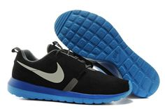 Caliente Nike Roshe Run Negro Plata Para Zapatillas Hombres BR NM Azul