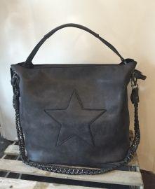 Bag in Bag tas met  ster zwart