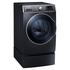 5.6 cu. ft. Capacity Front Load Washer with SuperSpeed (Onyx) WF56H9100AG/A2   Samsung Home Appliances