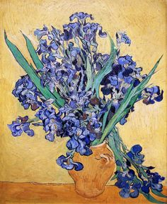 "lonequixote: "" Still Life with Irises by Vincent van Gogh """