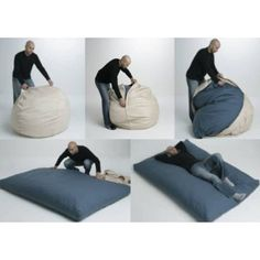 Bean2Bed Beanbag - brilliant! I saw this on QVC and Shark Tank and it looks like a great idea!