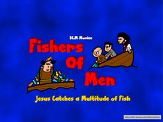 """After preaching to a group of people on the lake side, Jesus helps some men catch a multitude of fish. Then he calls them to be """"Fishers of Men"""" Luke 5:1-11 KJV  http://dlm-movies.com/fishersofmen"""