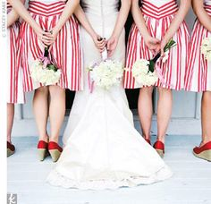 @Jessica Satre, I immediately thought of you when I saw these bridesmaids dresses :-)