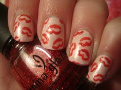 Kiss nails, with instructions! Adorable for Vday too!