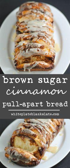Sweet, gooey glazed brown sugar cinnamon pull-apart bread is the next must-make on your breakfast list!