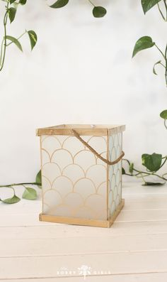 We recreated this lantern from Pottery Barn for WAY cheaper! Click through to learn more! Paper Flower Centerpieces, Paper Flower Backdrop, Giant Paper Flowers, Diy Outdoor Weddings, Diy Wedding On A Budget, Mason Jar Crafts, Mason Jar Diy, Budget Crafts, Diy Crafts