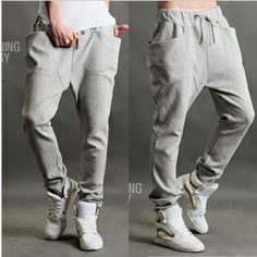 Envío gratis características, tres- dimensiones, bolsillo trim, y ardillas voladoras pantalones harem pantalones, macho, los pantalones, pantalones casuales