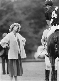 June 7, 1984: Prince Charles Princess Diana at the Smith's Lawn polo grounds in Windsor. Photo By:alpha-Globe Photos, Inc