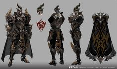 cabal online Armor design, jungmin jin /dospi on ArtStation at… Game Character Design, Character Design References, Character Design Inspiration, Character Concept, Character Art, Armor Concept, Game Concept Art, Fantasy Armor, Fantasy Weapons