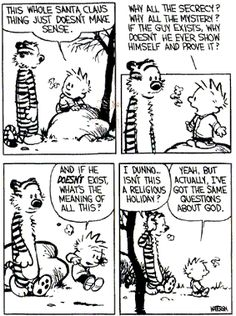 Image result for calvin and hobbes merry christmas