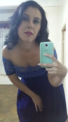 Rochie din catifea cu dantela - albastru regal Creatie proprie - 200 lei