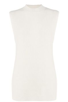 This sleeveless, tabard jumper is constructed from a chunky knit and features a round neck, dropped armholes, split side seams and dropped back hem.   #WARESTYLE #WAREHOUSE #LITTLEBLACKBOOK #LEEDS #STYLE #BLOGGER #KNITWEAR #WHITE #JUMPER #BASICS