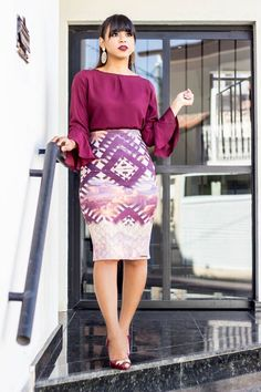 Shop Talbots for modern classic women's styles. You'll be a standout in our Lace Stripe Pencil Skirt - only at Talbots! Work Fashion, Modest Fashion, Fashion Dresses, Business Casual Outfits, Office Outfits, Pencil Skirt Outfits, Dress Outfits, Modest Dresses, Casual Dresses